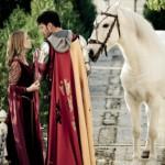 White knight save woman